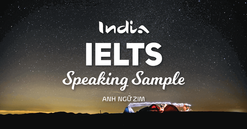 Sample Answer IELTS Speaking in India