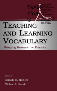 Teaching and Learning Vocabulary Bringing research to Practice ielts share